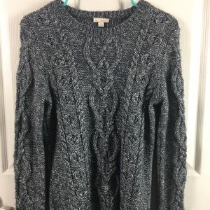 Gap Cable Pullover sweater gray metallic Size S
